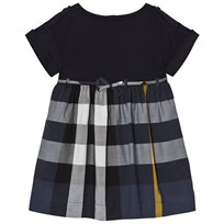 Burberry Check Cotton Dress Rhonda Navy PALE NAVY