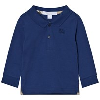 Burberry Long Sleeve Polo Marine Blue Marine blue