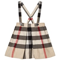 Burberry Strap Check Sofia Skirt Stone
