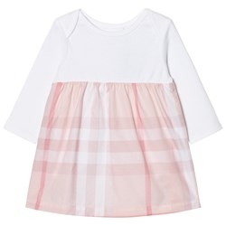 Burberry Check Detail Dress Pale Pink