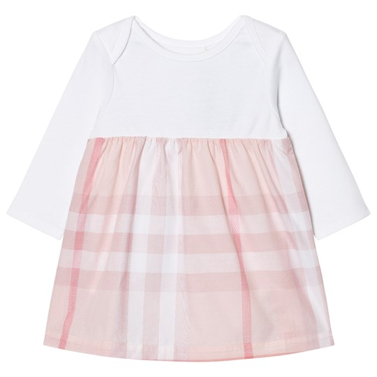Burberry Check Detail Dress Pale Pink Ice Pink