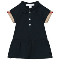 Burberry Cali Polo Dress Check Detail Navy Navy