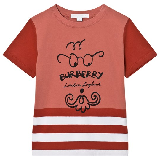Burberry Bearded Gent Print T-Shirt Röd PALE CINNAMON