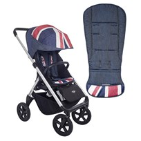EasyWalker Mini Design Set Union Jack Denim Jack Denim