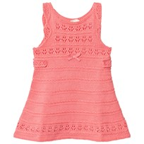 United Colors of Benetton Fine Knit A Line Dress With Frill Shoulder Detail Pink Pink