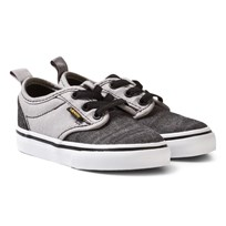 Vans Black and Grey Chambray Atwood Infants Slip On (Chambray) Black/Gray