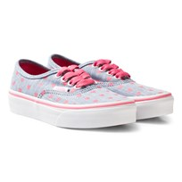 Vans Chambray Hearts Authentic Trainers (Chambray Hearts) blue/true white