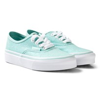 Vans Blue Glitter and Iridescent Authentic Trainers (Glitter & Iridescent) blue/true white