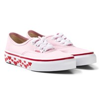 Vans Pink Heart Tape Sole Authentic Trainers (Hearts Tape) pink lady/red