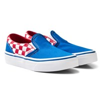 Vans Blue and Red Checkerboard Classic Slip On (Checkerboard) racing red/imperial blue