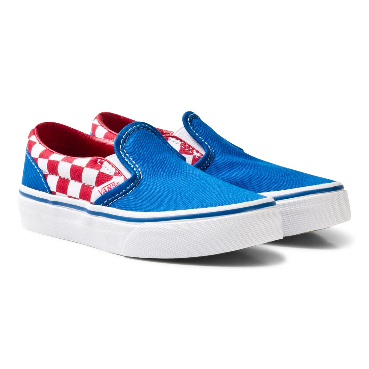 vans blue and red checkerboard classic slip on. Black Bedroom Furniture Sets. Home Design Ideas