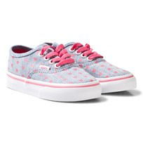 Vans Chambray Hearts Authentic Infants Trainers (Chambray Hearts) blue/true white