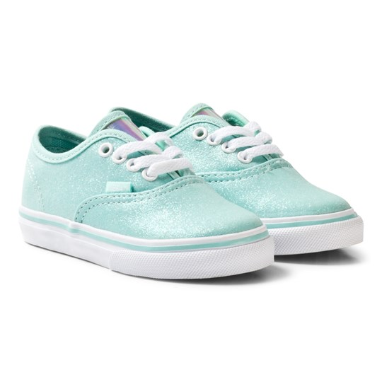 Vans Blue Glitter and Iridescent Authentic Infants Trainers (Glitter & Iridescent) blue/true white
