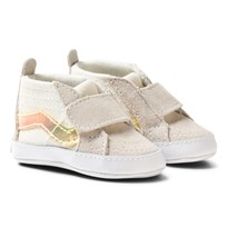 Vans White Glitter and Iridescent Crib Booties (Glitter & Iridescent) white/true white