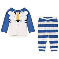 Joules Blue Tiger Applique Top and Bottoms Sets OCEAN BLUE TIGER
