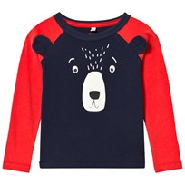 Joules Navy Bear Applique Raglan Sleeve Tee NAVY BEAR