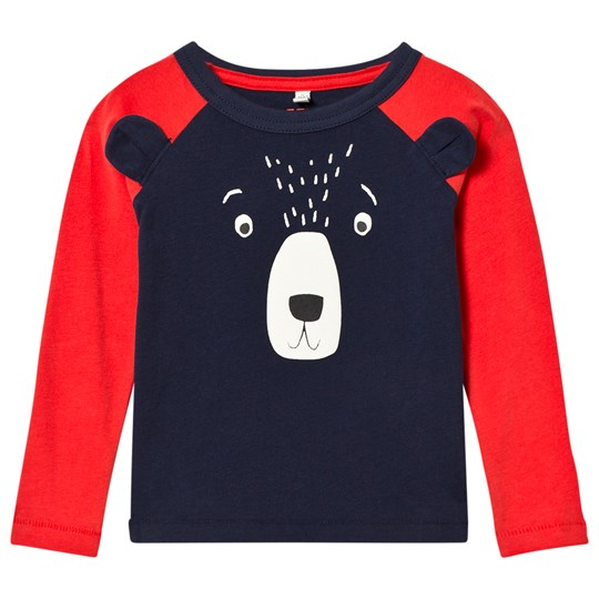 Tom Joule Navy Bear Applique Raglan Sleeve Tee NAVY BEAR
