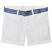 Ralph Lauren Belted Stretch Cotton Short White 001