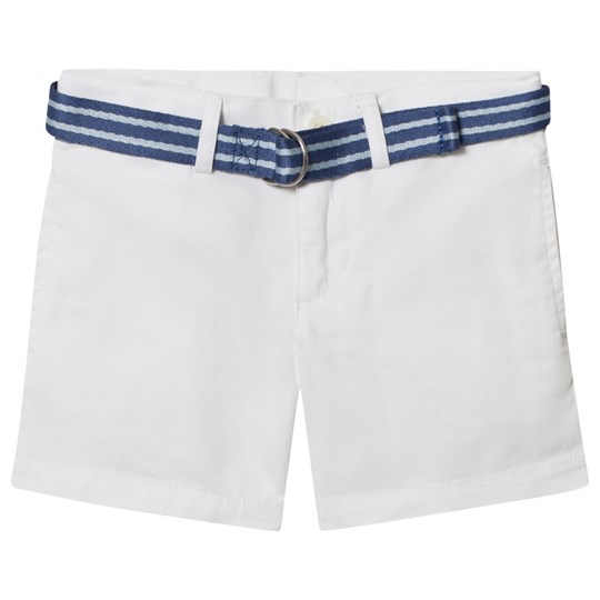 Ralph Lauren White Chino Shorts with Belt 001