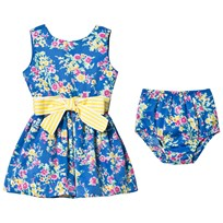 Ralph Lauren Floral Twill Dress Bloomers Blue 001