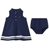 Ralph Lauren Striped Polo Dress Bloomers Navy 001