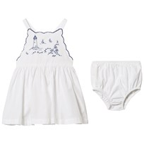 Ralph Lauren White Twill Sun Dress Bloomers 001