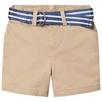 Ralph Lauren Belted Stretch Cotton Short Beige 002