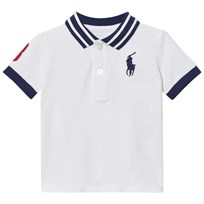 Ralph Lauren Cotton Mesh Polo Shirt White 001
