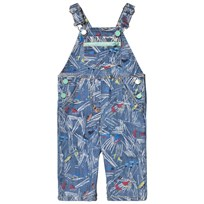 Stella McCartney Kids Blue Scribble Skates Print Buzzby Overall 4263