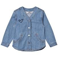 Stella McCartney Kids Blue Denim Smoothie Heart Shirt 4160