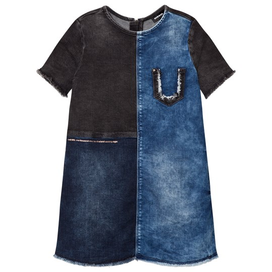 Diesel Blue and Navy Woven Dress K01