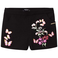 Guess Black Floral Embroidered Shorts A996