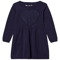 Guess Navy Knit Dress with Lace Heart Applique C709