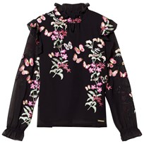 Guess Black Floral Embroidered Blouse A996