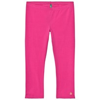 United Colors of Benetton Jersey 3/4 Leggings With Frill Hem Fuschia Pink Fuschia Pink