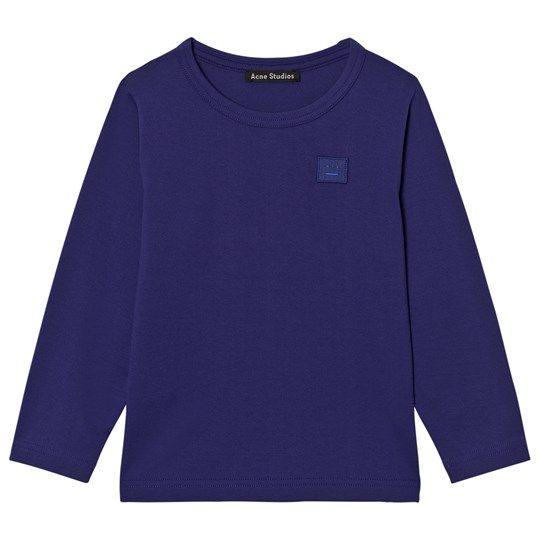 Acne Studios Mini Nash Face Royal Blue Long Tee Blue
