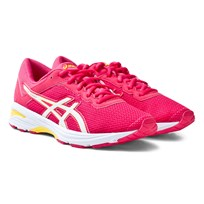 Asics Pink Junior GT-1000 6 Running Trainers ROUGE RED/WHITE/VIBRANT YELLOW