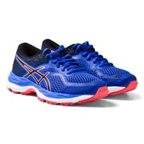 Asics Purple and Coral Junior Gel-Cumulus 19 Running Trainers BLUE PURPLE/BLACK/FLASH CORAL