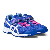 Asics Purple and White Kids Pre-Galaxy 9 Running Trainers BLUE PURPLE/WHITE/AIRY BLUE