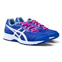 Asics Purple and White Junior Gel-Galaxy 9 Running Trainers BLUE PURPLE/WHITE/AIRY BLUE