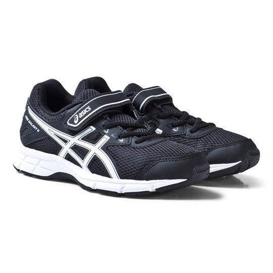 Asics Black and White Kids Pre-Galaxy 9 Running Trainers BLACK/WHITE/BLACK