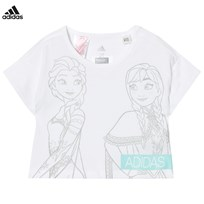 adidas Disney Frozen Tee WHITE/GREY ONE F17/ENERGY AQUA F17