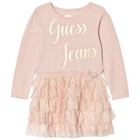 Guess Pale Pink Jersey and Glitter Tulle Dress G604