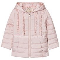Guess Pale Pink Frill Front Hooded Padded Coat G604