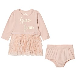 Guess Pale Pink Tulle Dress Bloomers Set