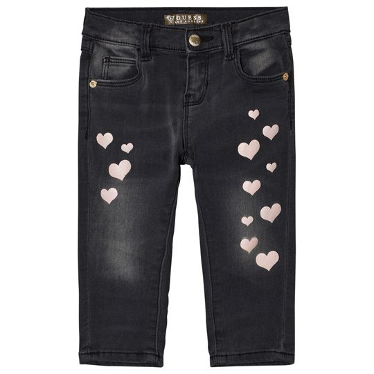 Guess Charcoal Heart Print Jeans GRYW