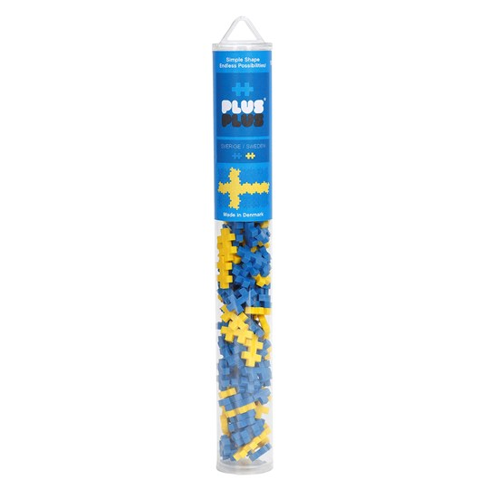 Plus Plus Plus Plus MINI Swedish Flag Tube 100 pcs Unisex