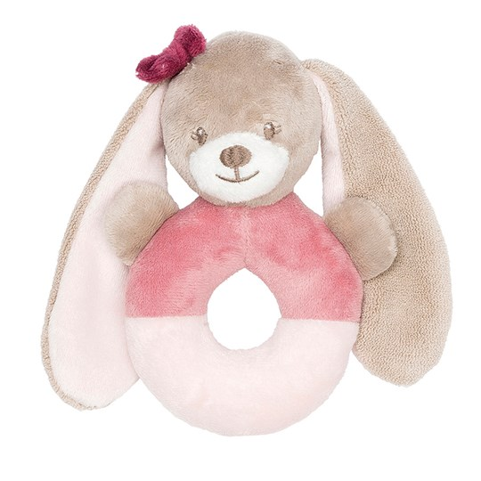 Nattou Ring Rattle Nina The Bunny Pink