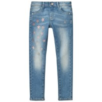 Guess Light Wash Star Print Jeans with Embroidered Pockets LSBW