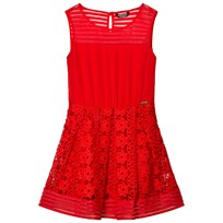 Guess Red Lace and Jersey Dress B573